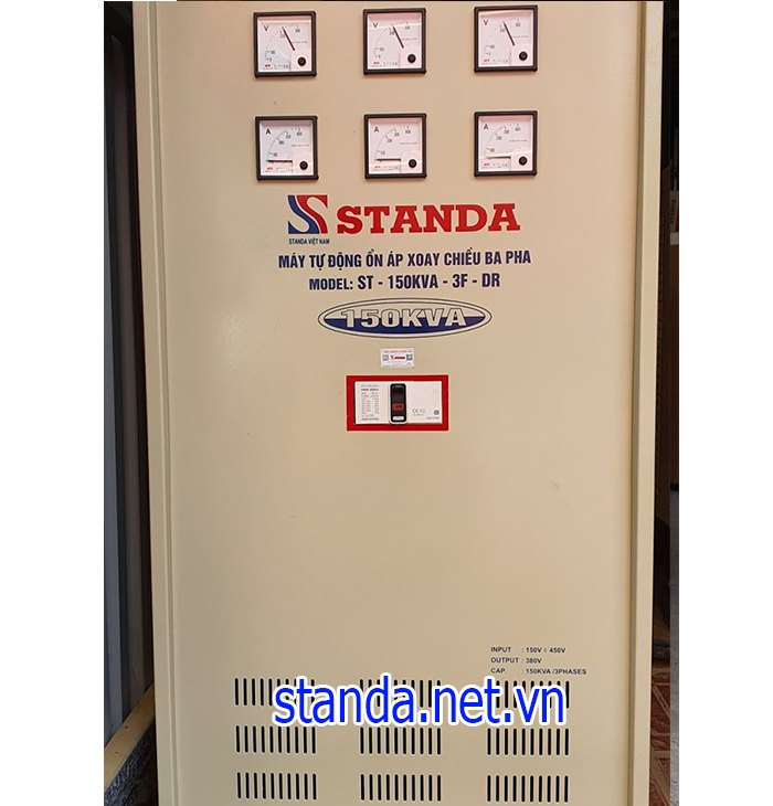 Standa 150kva 3F dải 160v-430v cho các nhà máy
