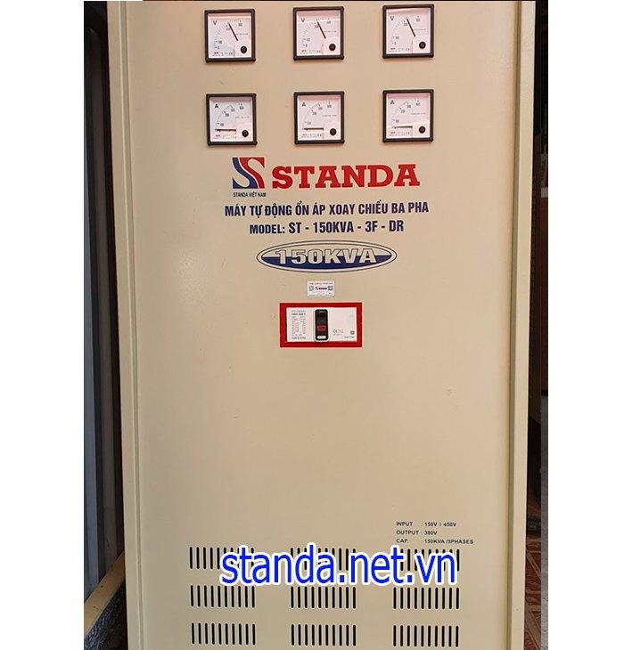 Ổn áp standa 150kva dây đồng 100% dải 160v-430v
