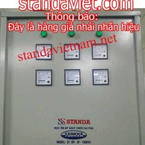 Ổn áp Standa 150kva hàng giả nhái do Công ty Cổ phần Standa Việt Nam sản xuất trái pháp luật
