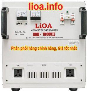 Ổn Áp Lioa 10kVA DRII-10000II Dải 50V Chính Hãng Giá Cực Tốt