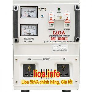Ổn Áp Lioa 5kVA DRI-5000 II Điện Vào 90V-250V Điện Ra 110V 220V