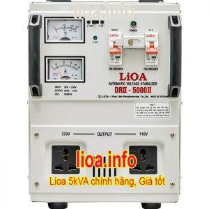 Ổn Áp Lioa 5kVA DRII-5000II Chính Hãng Giá Cục Tốt Tại Kho