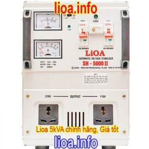 Ổn Áp Lioa 5kVA SH-5000 II Hàng Chính Hãng Giá Cực Tốt
