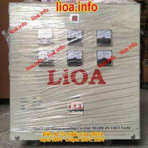 Biến Áp Tự Ngẫu Lioa 20kVA Điện Vào 380V Điện Ra 200V và 220V Hàng Chuẩn Giá Tốt