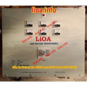 Biến Áp Cách Ly Lioa 50kVA Input 380V Output 200V 220V Phân Phối Tại Kho Giá Cực Tốt