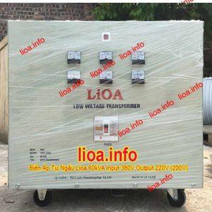Biến Áp Tự Ngẫu Lioa 60kVA Điện Vào 380V Điện Ra 220V (200V) Hàng Chuẩn Giá Tốt