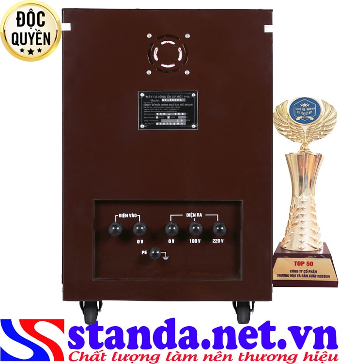 Ổn áp 30kva Standa 1 pha điện áp 150V chính hãng của Redsun