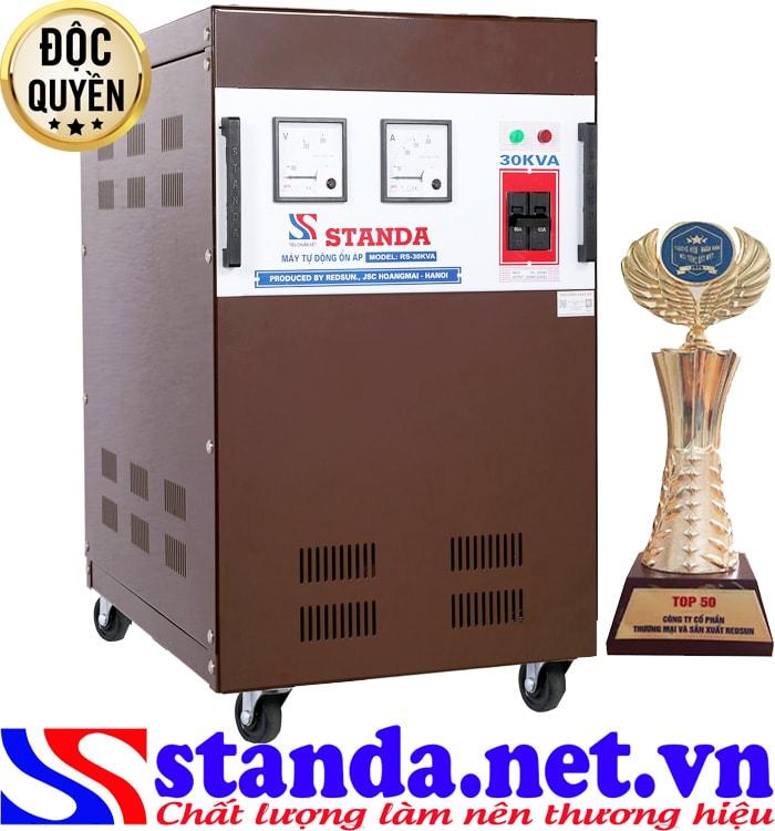 Tác dụng ổn áp Standa 1 pha 30kva dải điện áp 150V