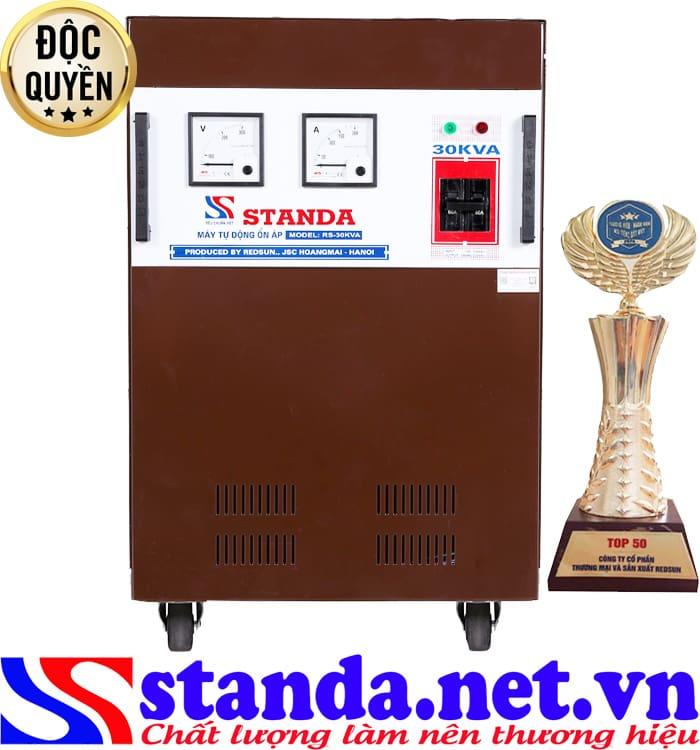 Đặc điểm của ổn áp Standa 30KVA dải 150V 1 pha