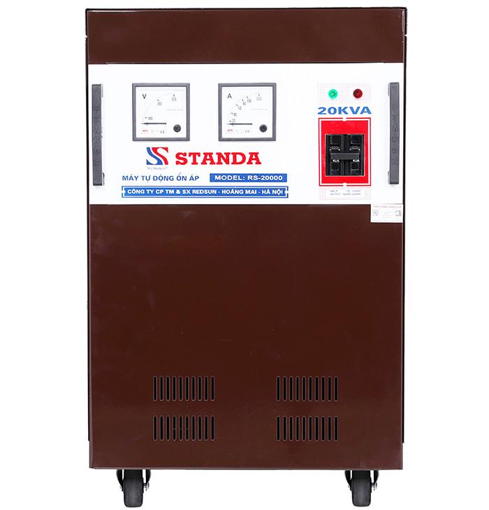 Ổn áp standa 20kva dải 150v-250v chuẩn mới hiện nay