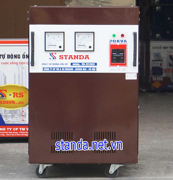Ổn áp standa 20kva dải 150v hàng chuẩn của Công ty