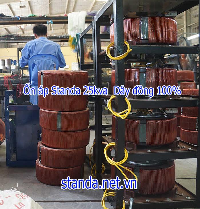 Standa 25kva dải 150v-250v dây đồng 100%