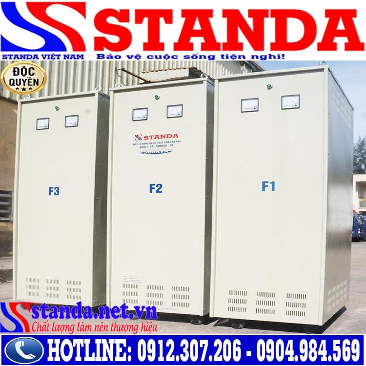 Khác biệt của ổn áp 500KVA STANDA 3 pha điện áp 260V - 430V so với các dòng ổn áp khác