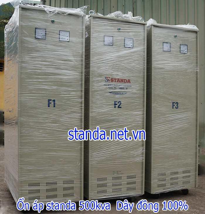 Ổn áp Standa 500KVA dải 260V-430V chính hãng của Công ty