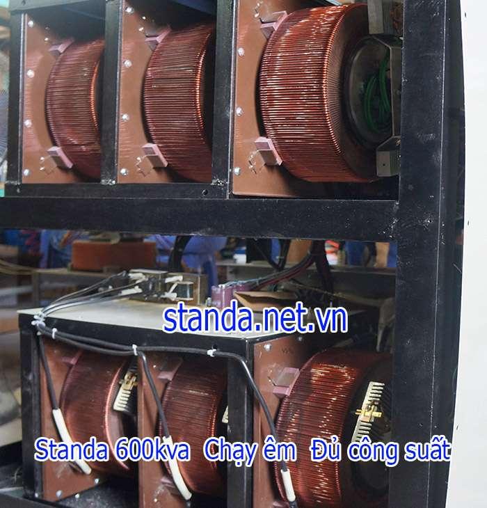 Ổn áp Standa 600kVA dây đồng 100% chạy êm đủ công suất