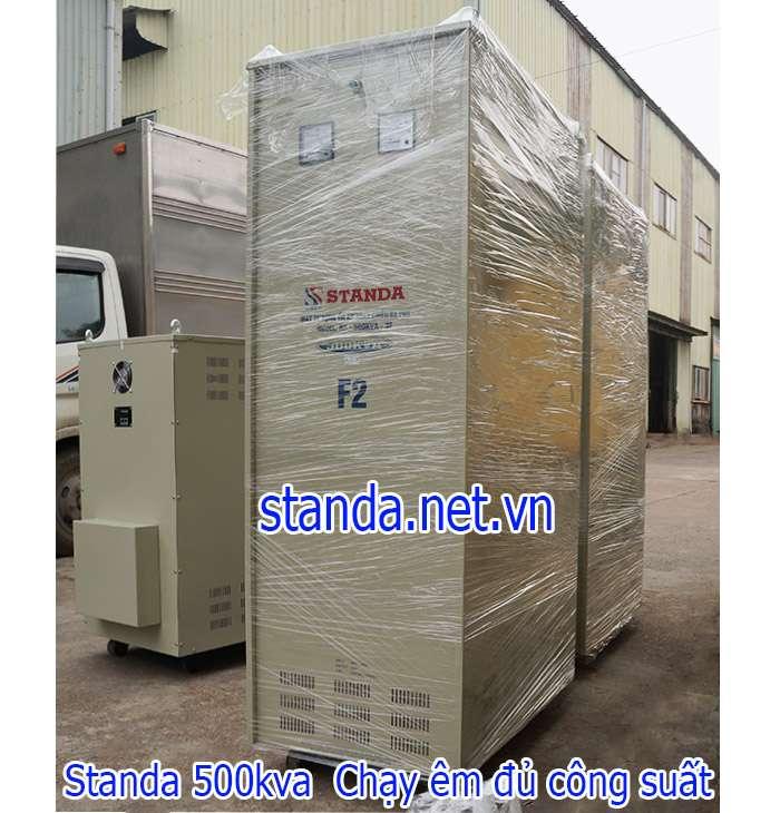 Standa 500kVA 3 pha dải 260V~430V điện ra 380V dây đồng 100%