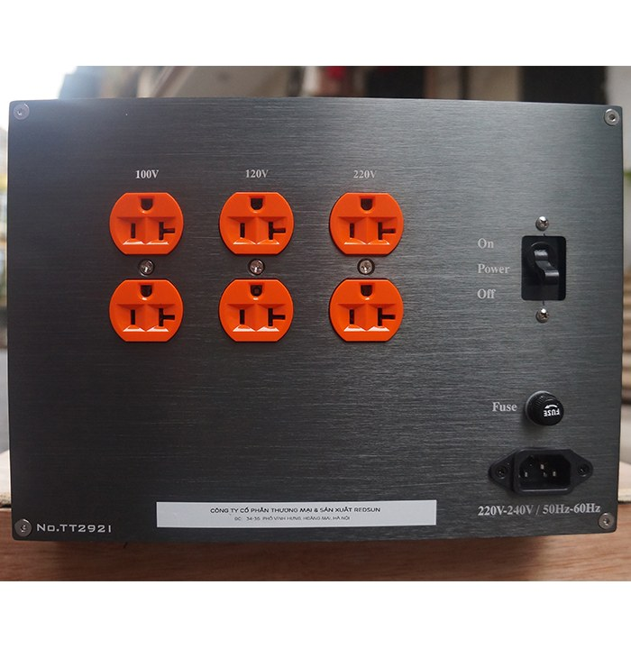 Biến áp cách ly standa 1 pha 3kva cho âm thanh
