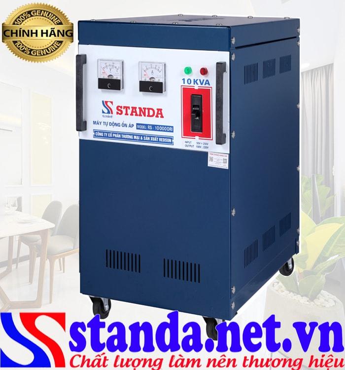 Dùng ổn áp Standa 10kva sẽ có điện ổn định 220v rất có lợi cho thiết bị điện trong gia đình