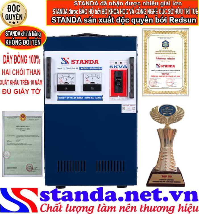 ổn áp standa 5kva được sản xuất độc quyền tại công ty cp thương mại và sản xuất Redsun