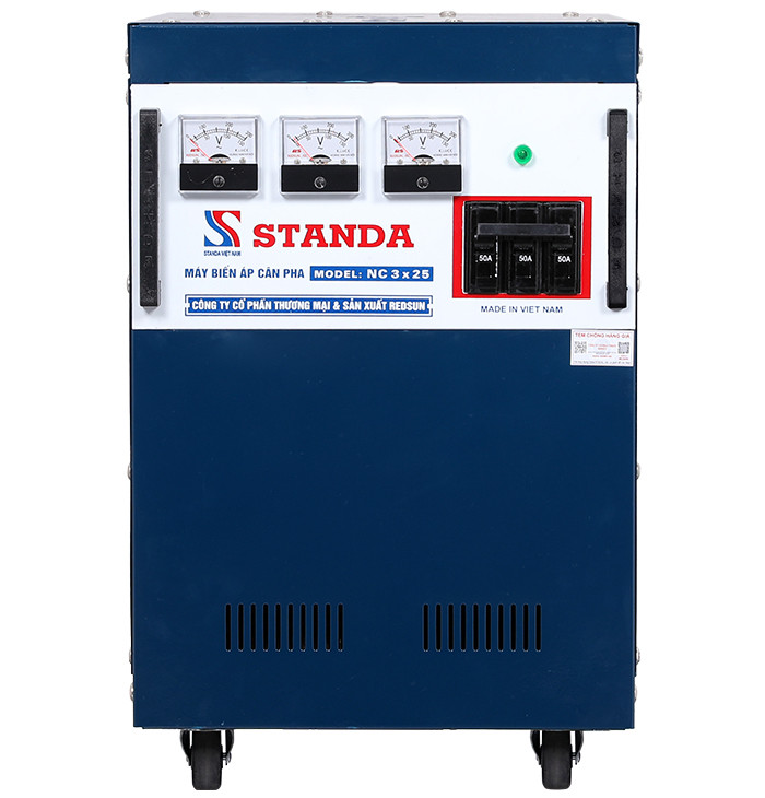 Biến áp cân pha standa NC3x25 chống lệch pha lệch dòng dưới 75A