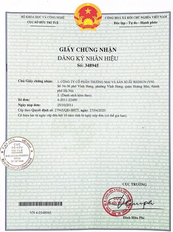 giấy chứng nhận thương hiệu Standa, On áp Standa đổi tên có đúng không