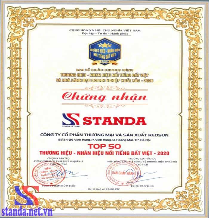 giải thưởng danh giá thương hiệu Standa