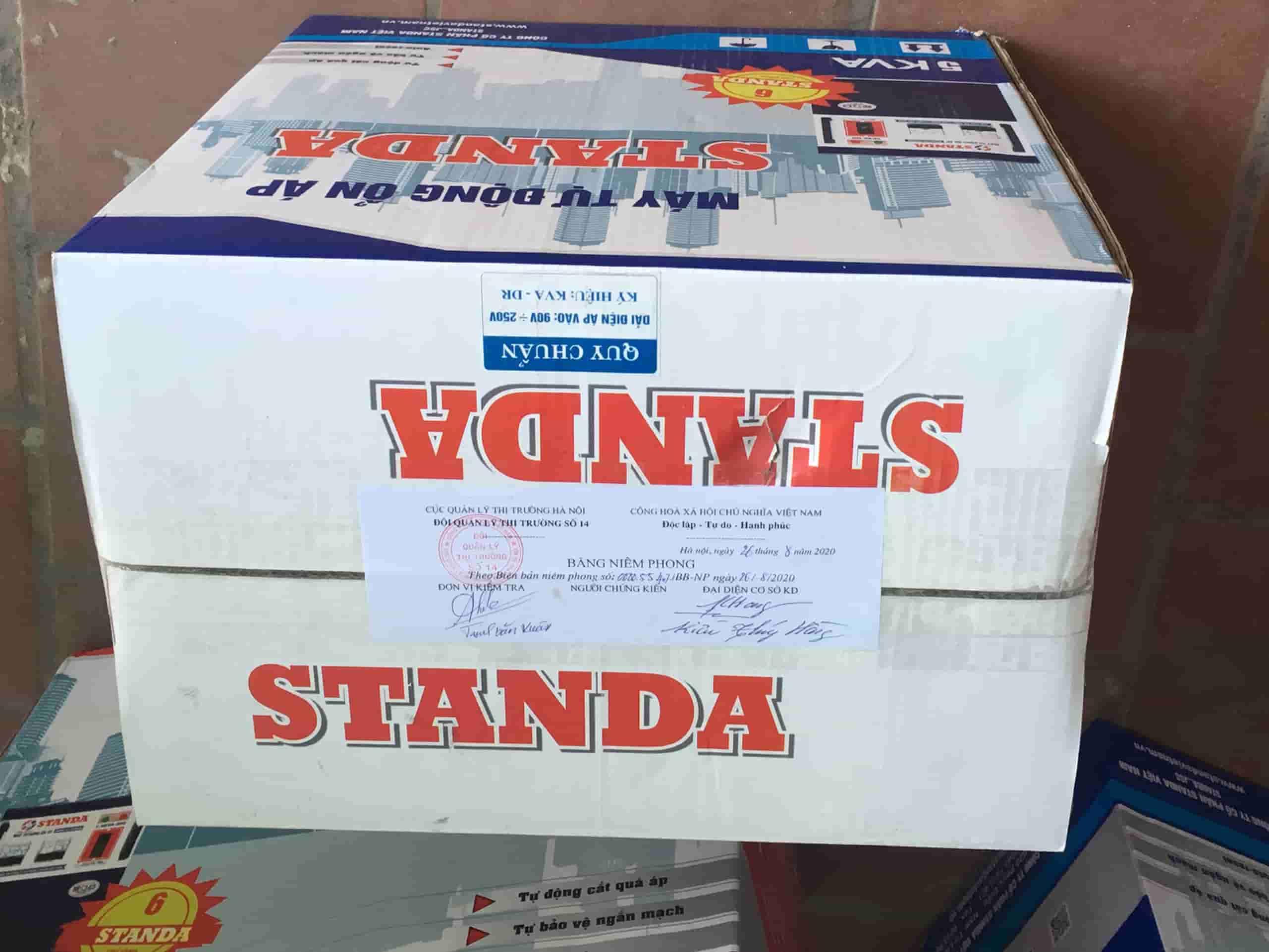 Quản Lý Thị Trường Hà Nội và Công an kinh tế xử lý sai phạm nhãn hiệu Standa