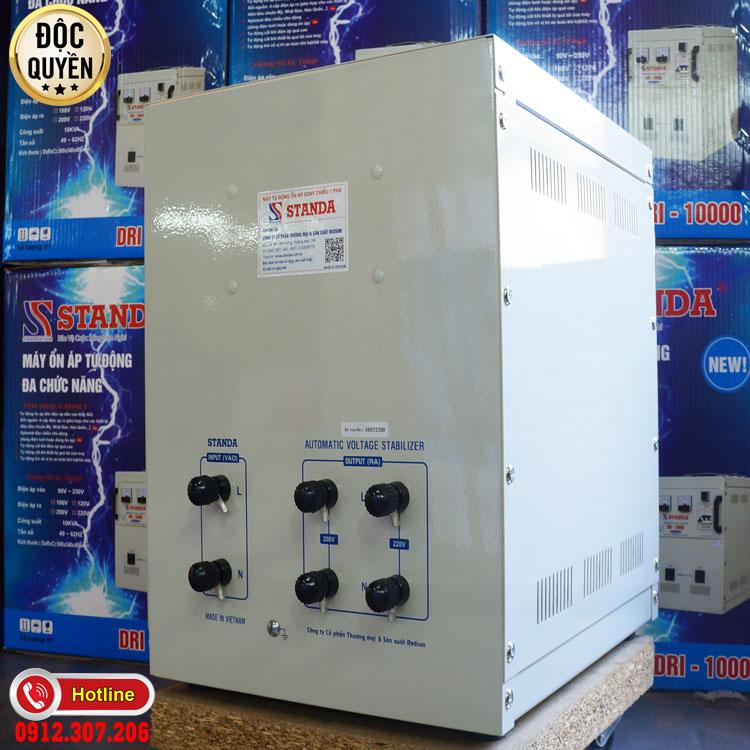 Ảnh ổn áp standa 10kva - máy ổn áp tự động đa chức năng Standa 10KVA điên áp 90V