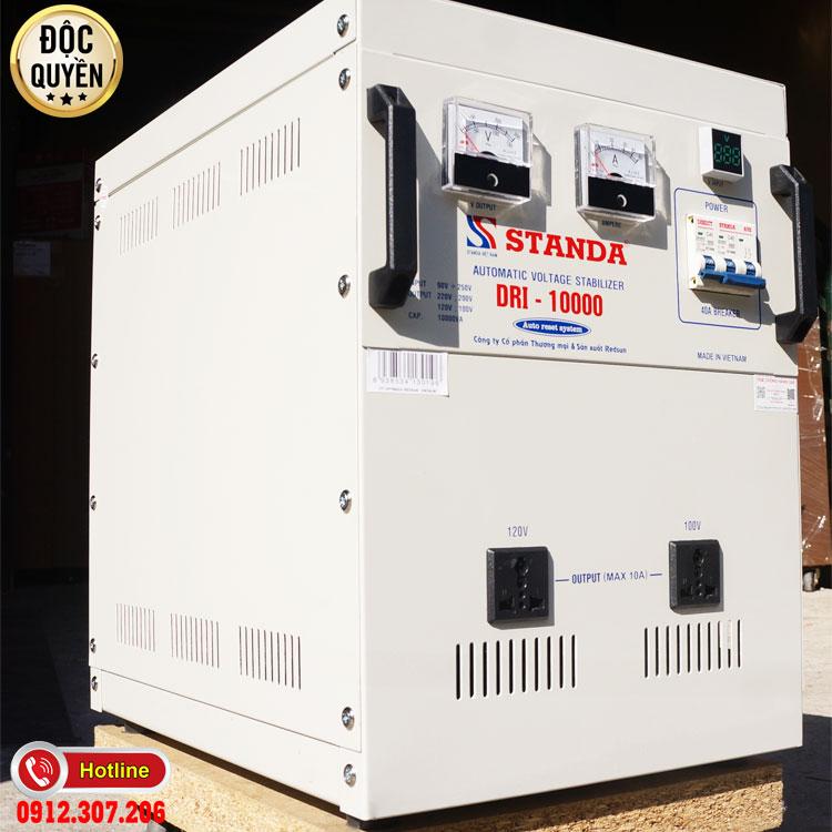 máy ổn áp tự động đa chức năng thế hệ mới 10KVA standa điện áp 90V