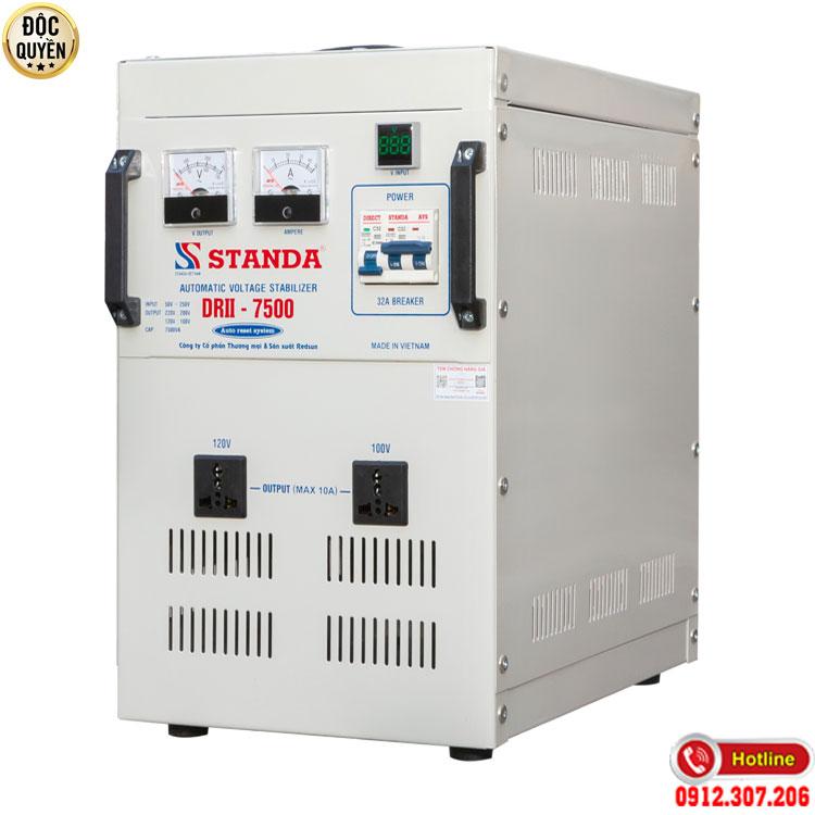 Hình ảnh máy tự động ổn áp Standa 7.5KVA chính hãng điện áp 50V