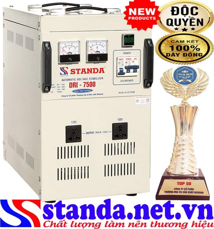 Máy tự động ổn áp xoay chiều Standa 7.5KVA dải 90V