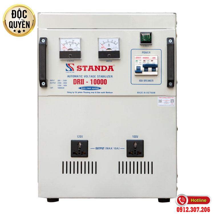 Ổn áp Standa 10KVA điện áp 50V chính hãng