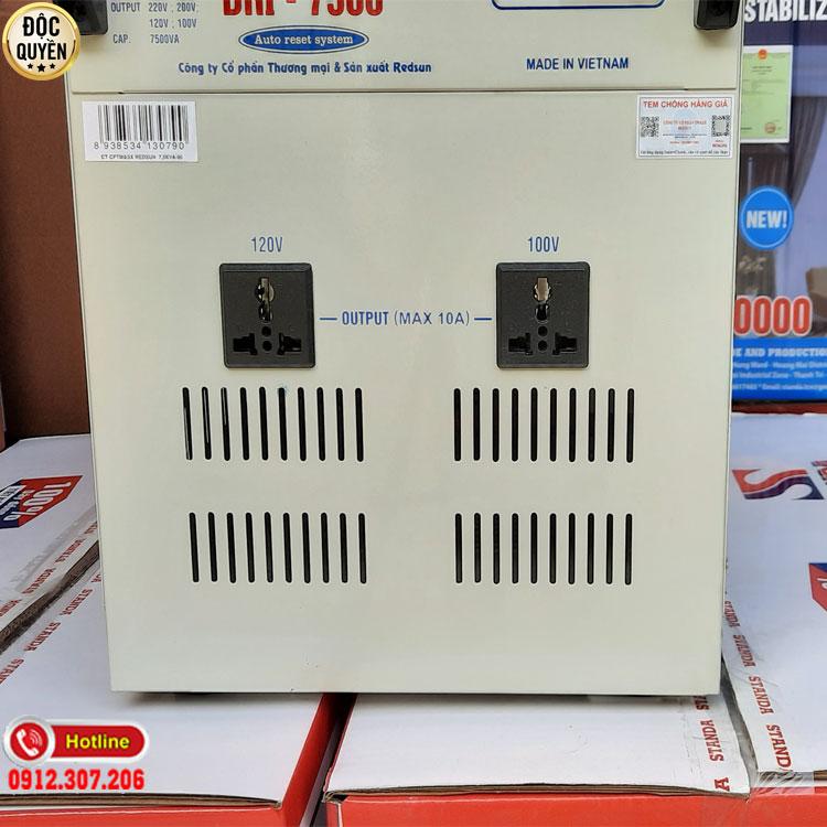 Máy ổn áp tự động Standa 7.5KVA điện áp 90V