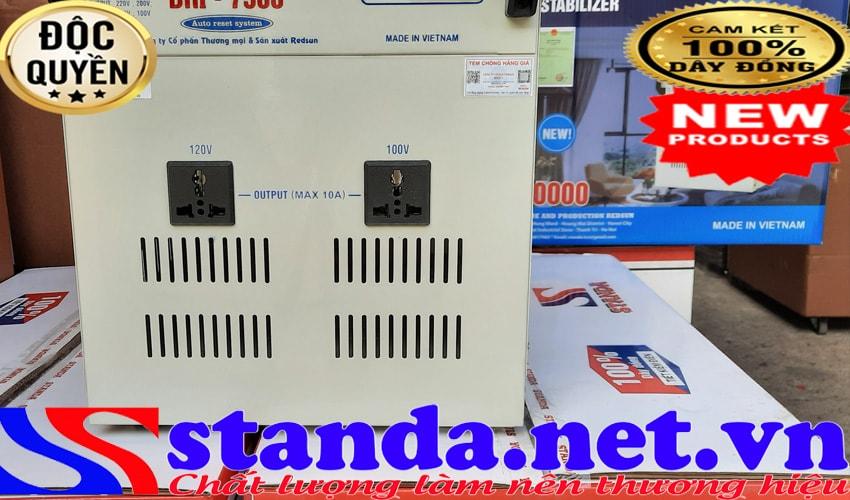 Máy tư động ổn áp Standa 7.5KVA DRI (90V-250V)