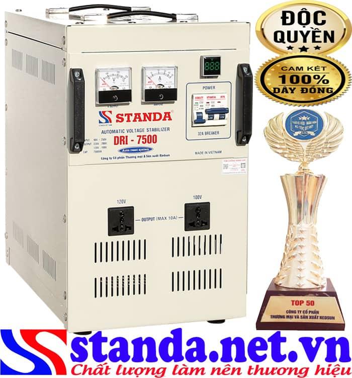 ổn áp standa 7.5KVA DRI (90V-250V)