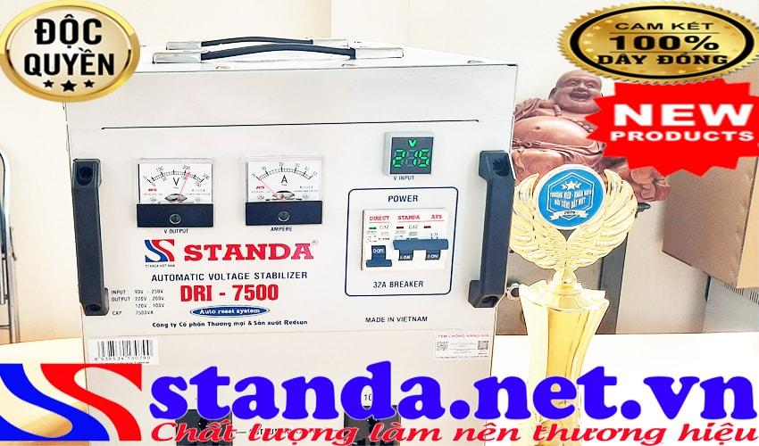 Đặc điểm cơ bản của ổn áp standa 7.5KVA DRI (90V-250V)