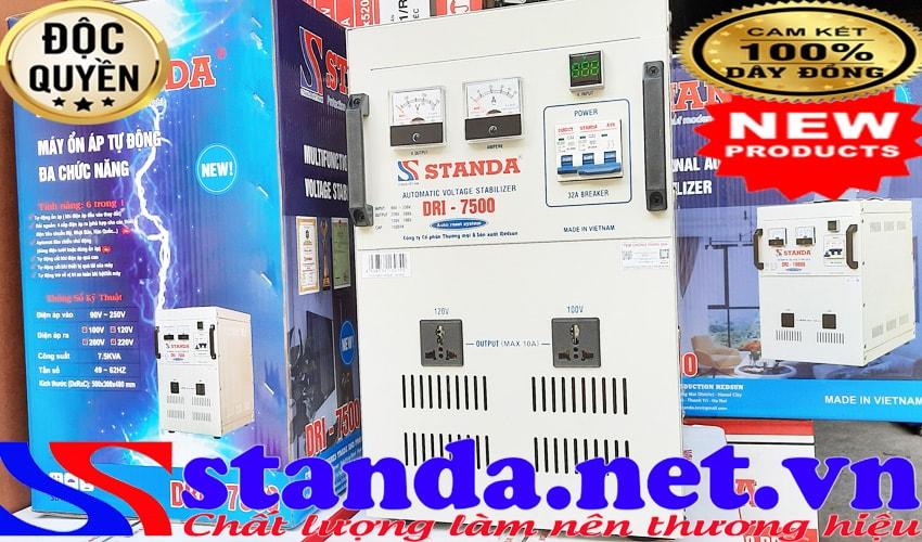 Hướng dẫn sử dụng ổn áp standa 7.5KVA DRI (90V-250V) đa năng