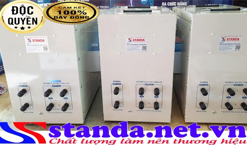máy tự động ổn áp xoay chiều 1 pha ổn áp standa 7.5KVA DRI (90V-250V