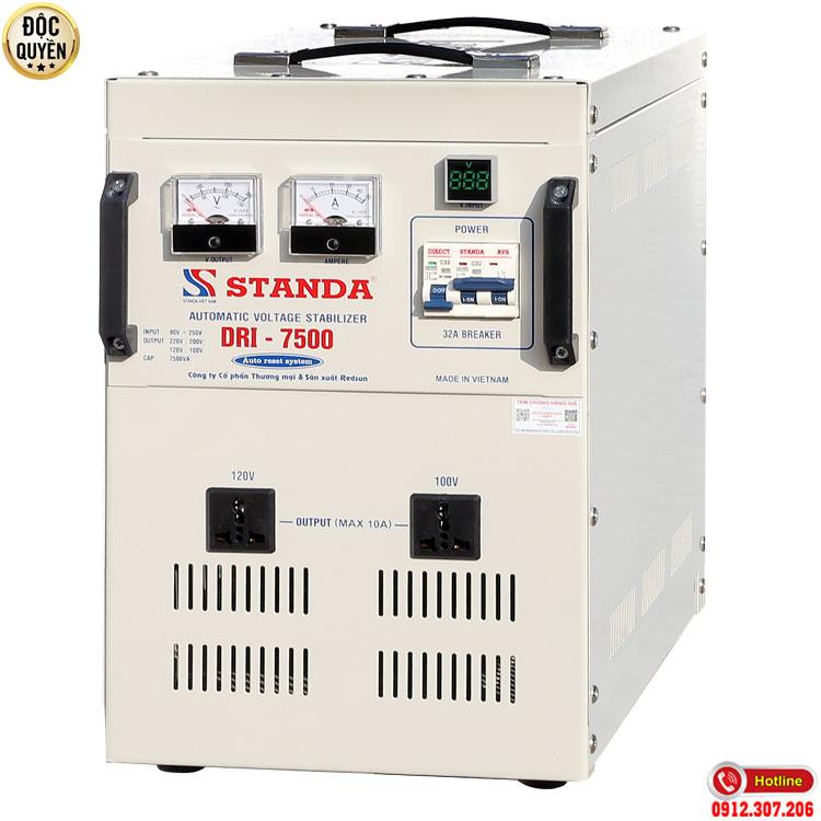 Ổn áp standa 7.5KVA điện áp 90V - Máy tự động ổn áp đa chức năng thế hệ mới 2021 chính hãng Standa