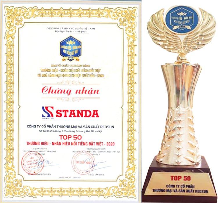 ổn áp Standa nhận giải thưởng thương hiệu nổi tiếng
