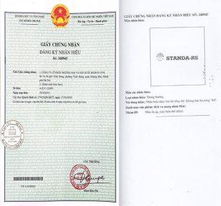 Ổn áp Standa chứng nhận đăng ký nhãn hiệu