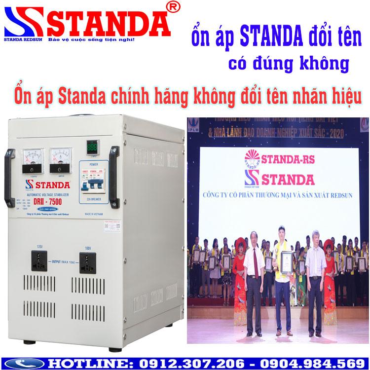 Có đúng ổn áp Standa đổi tên không?