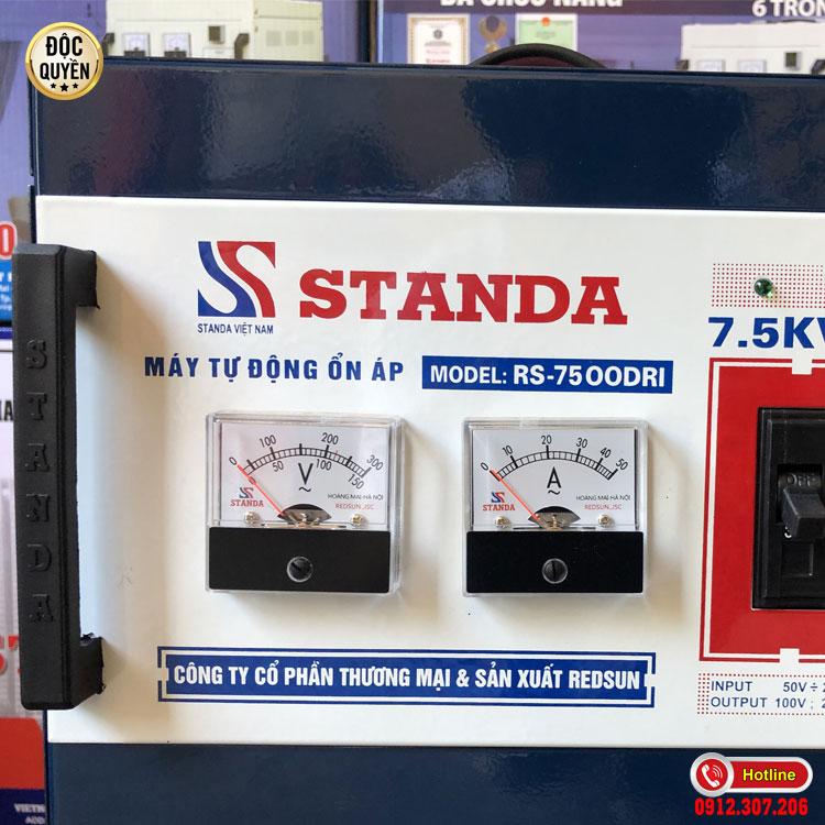 Tính năng của ổn áp STANDA 7.5kva dải 50V