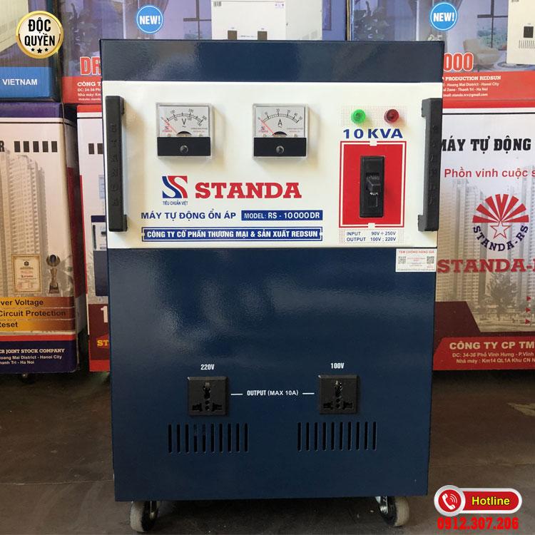 Hình ảnh ổn áp STANDA 10KVA dải 90V - 250V 2 ổ cắm