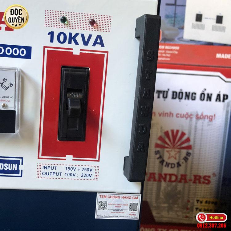 Tại sao nên chọn ổn áp STANDA 10KVA dải 150V
