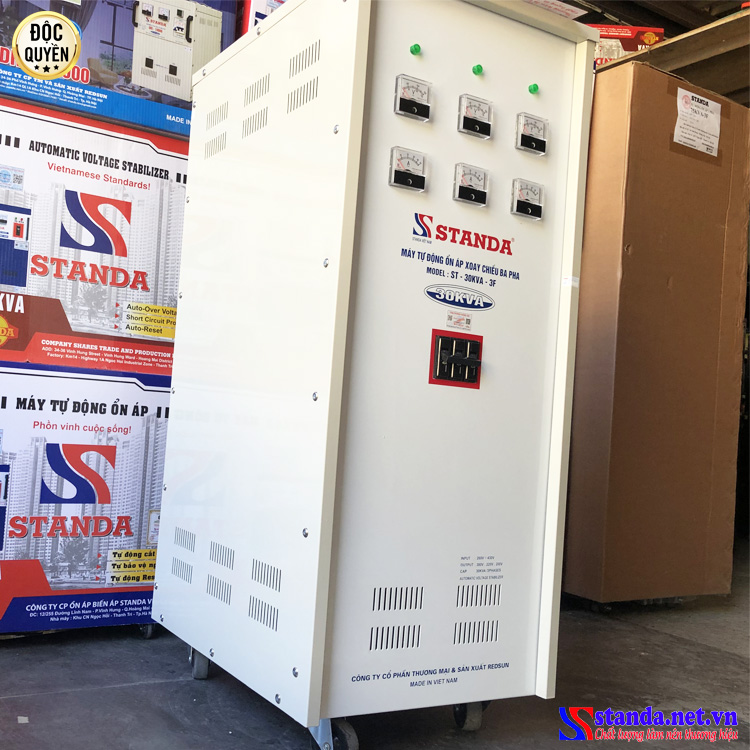 Ổn áp Standa 30KVA 3 pha dải 260V dây đồng new 2021
