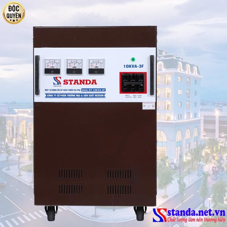 ổn áp 3 pha bán chạy nhất hiện nay - ổn áp Standa 3 pha chính hãng 10KVA