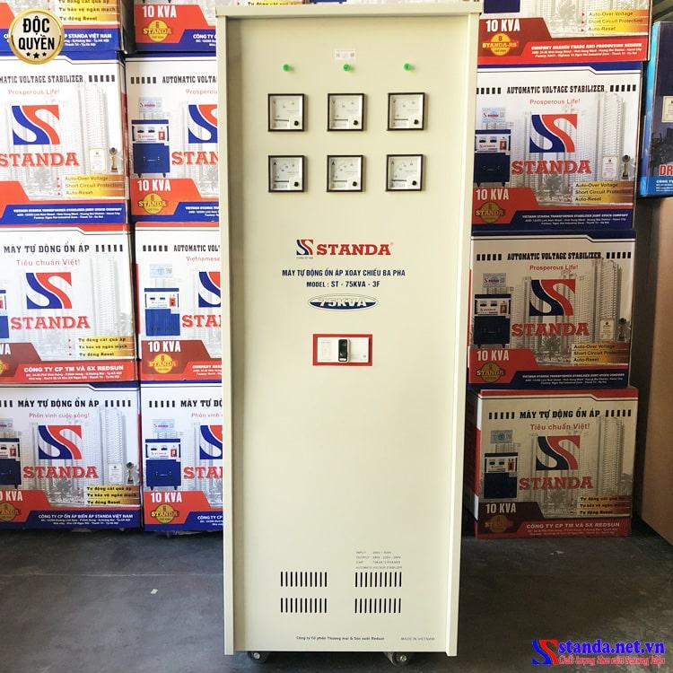 ổn áp Standa 3 pha 75KVA dải 260V Standa chính hãng dây đồng