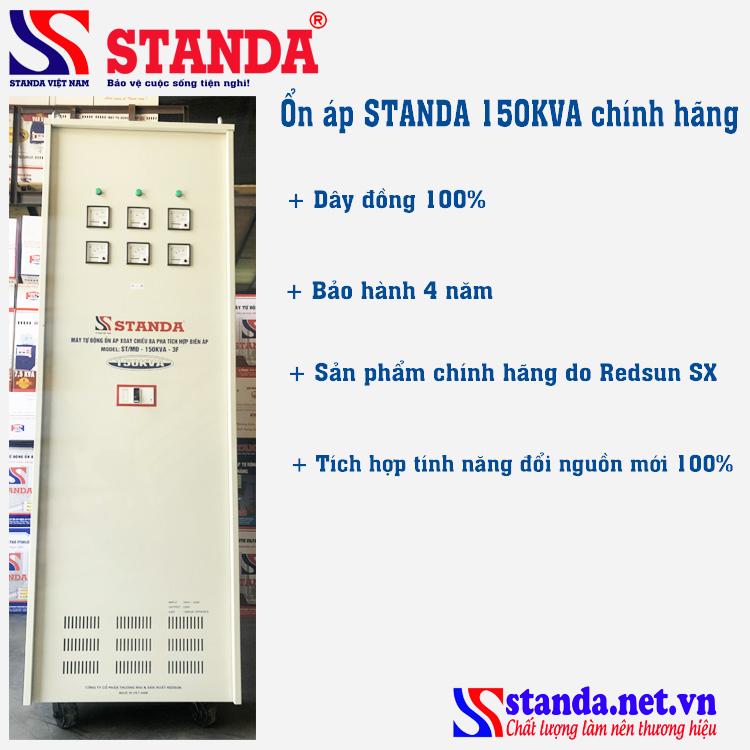 Ổn áp STANDA 3 pha 150kva chính hãng bảo hành 4 năm