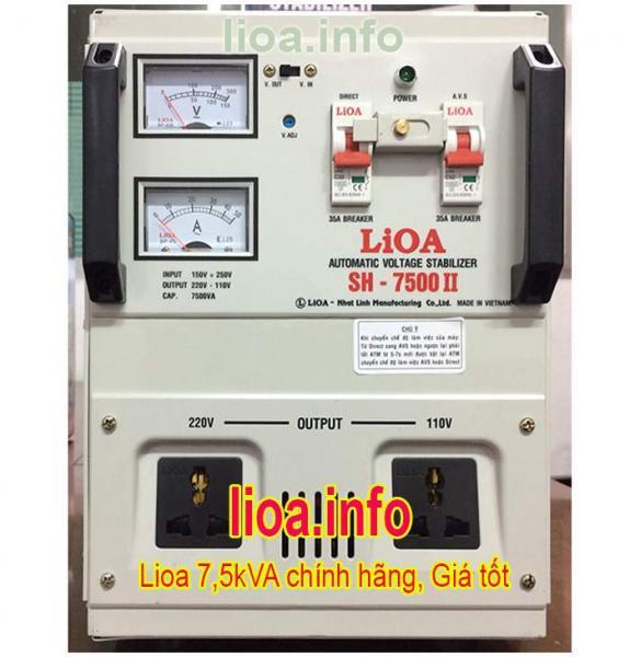 Ổn Áp Lioa 7,5kVA SH-7500 II Tổng Kho Phân Phối Toàn Quốc